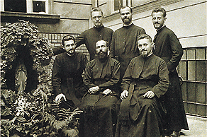 In 1936, six Hungarian missionaries including Fr. Jaschko (standing, far left) went to a distant and unfamiliar land--China.