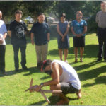 Kaleb Taylor conducted a smoking ceremony used for the healing of the spirit.