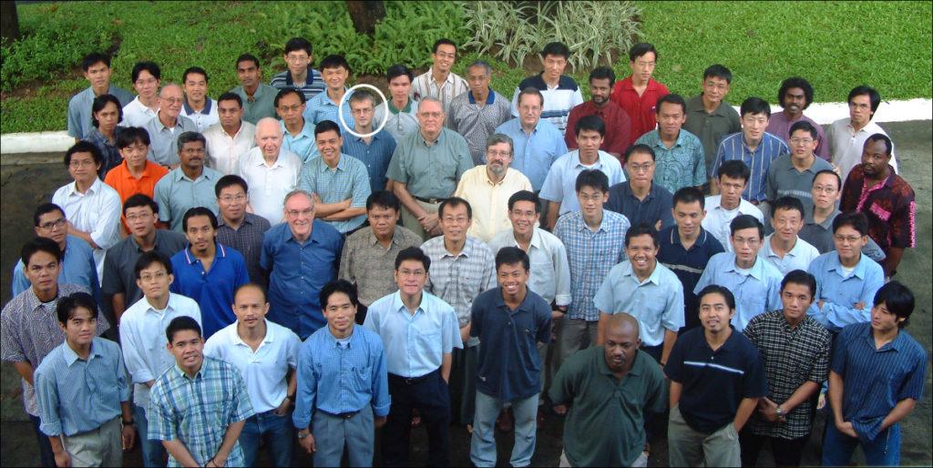 Fr Kurmann with the AIR Community, September 2002