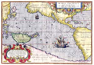 Maris Pacifici by Abraham Ortelius