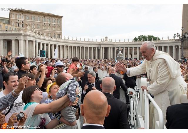 教宗對家庭的關切並沒有休假