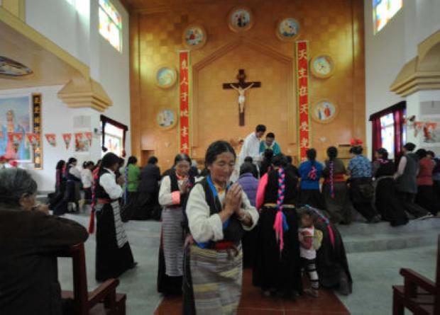 西藏唯一一座教堂位於上鹽井村 全村80%村民信教