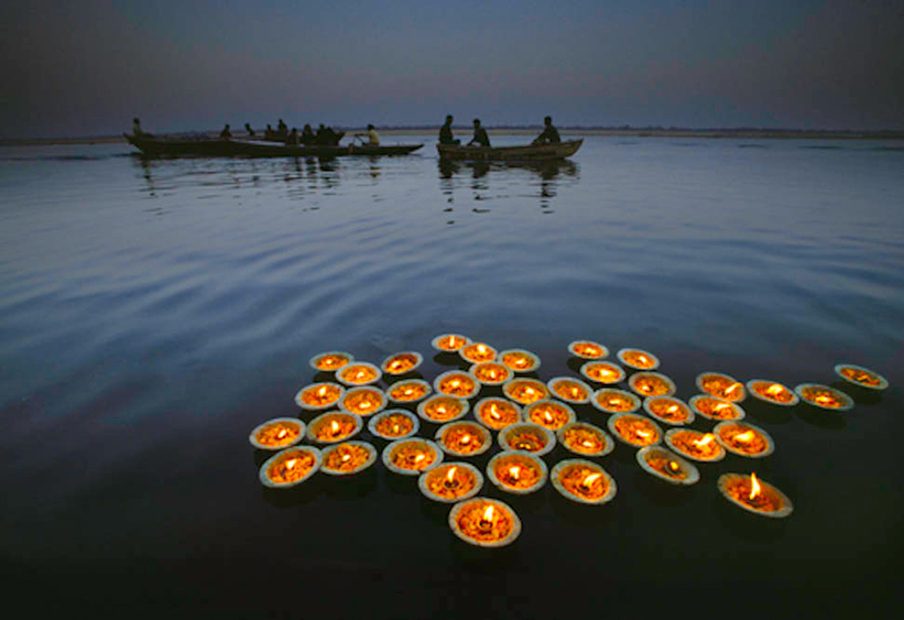 Diyas on the Ganges