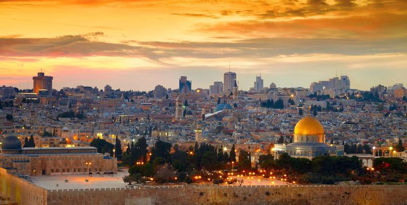 Panorama of Jerusalem old city. Israel