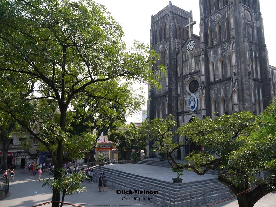 河內聖約瑟夫大教堂Nhà thờ Chính tòa Thánh Giuse (又名河內大教堂,Nhà thờ Lớn Hà Nội) 地址:40 Nhà Chung, Hanoi (河內古街裡)