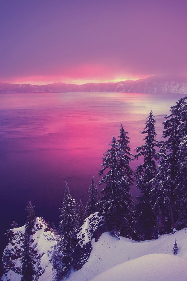 Winter Sunrise at Crater Lake