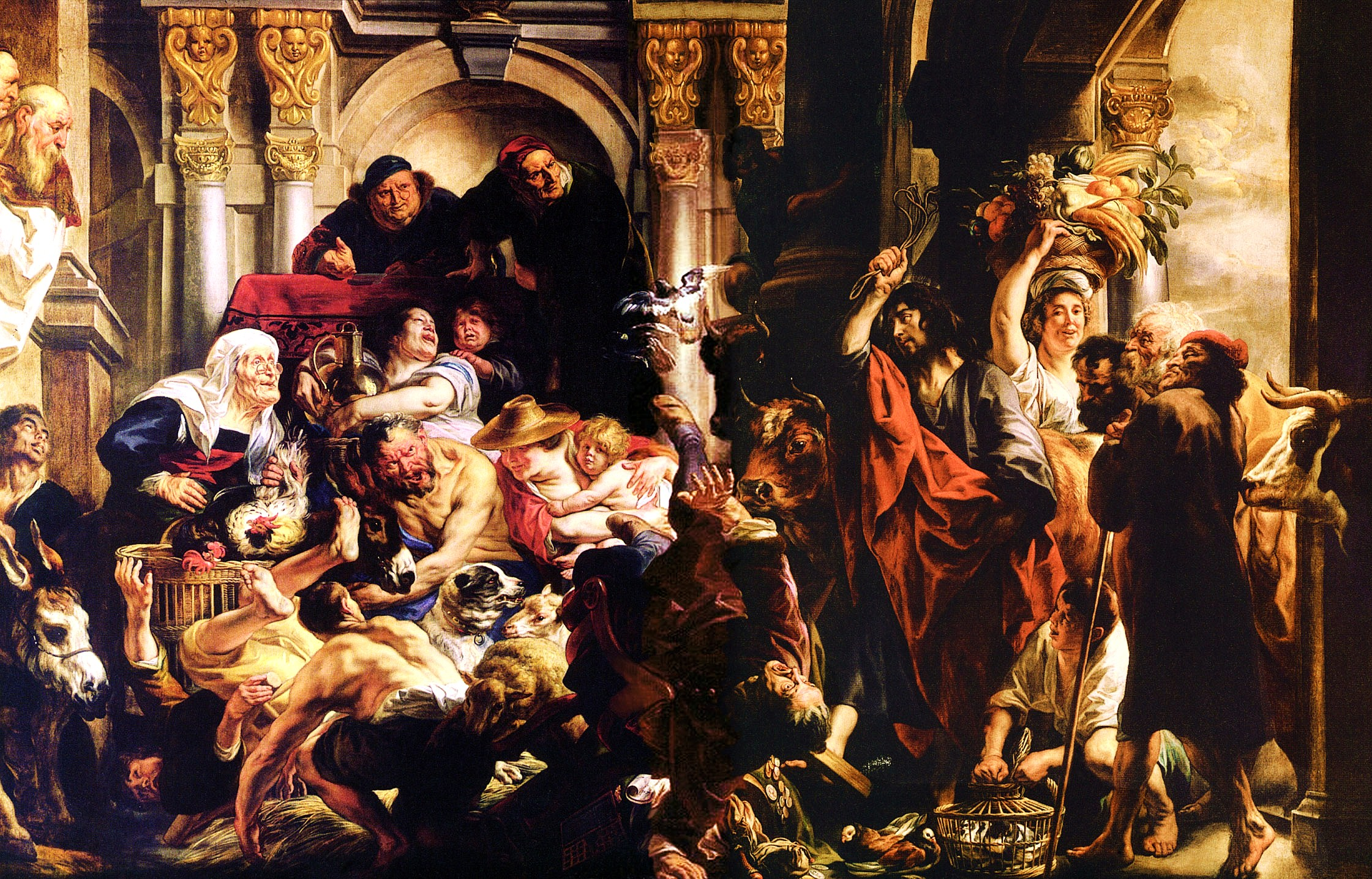 Christ Driving the Merchants from the Temple Jacob Jordaens, c. 1650